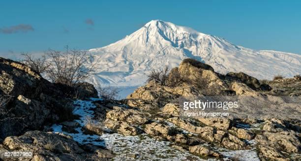 Mt. Ararat, view from Khosrov State Reserve, Armenia