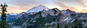 Mt. Baker seen from Artist Ridge in the Northern Cascades mountains of Washington.