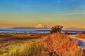 Mt. Baker with Centennial Beach at sunset