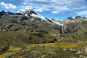 Mt Chopicalqui (6354m) from Laguna 69 trail, Ancash province, Peru
