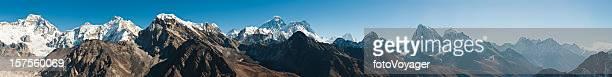 エベレスト山サミットヒマラヤメガパノラマクーンブ 8000 m ピークネパール