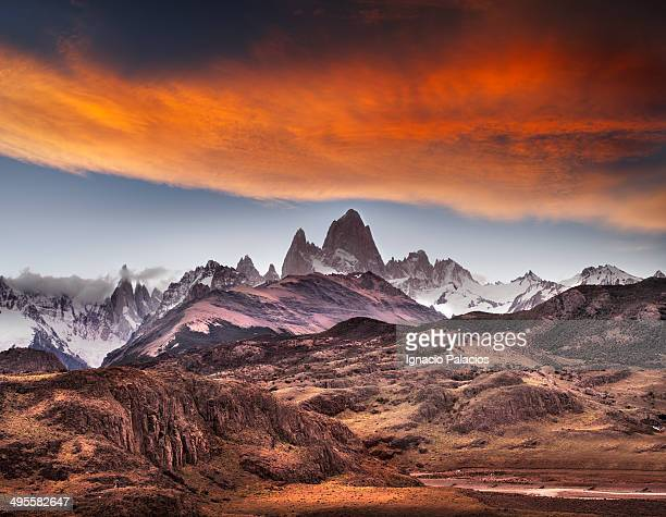 Mt Fitz Roy and Cerro Torre from Condor's lookout
