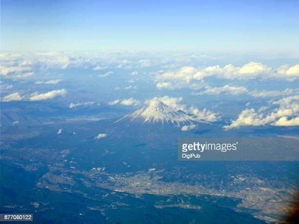 Mt. Fuji, Aerial View from Window Seat