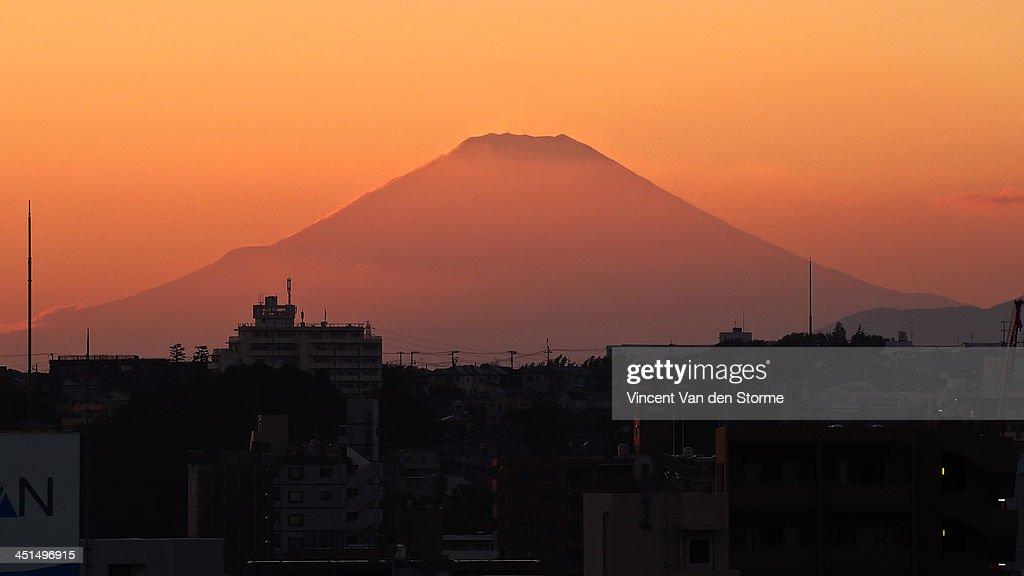 Mt. Fuji at sunset : Stock Photo