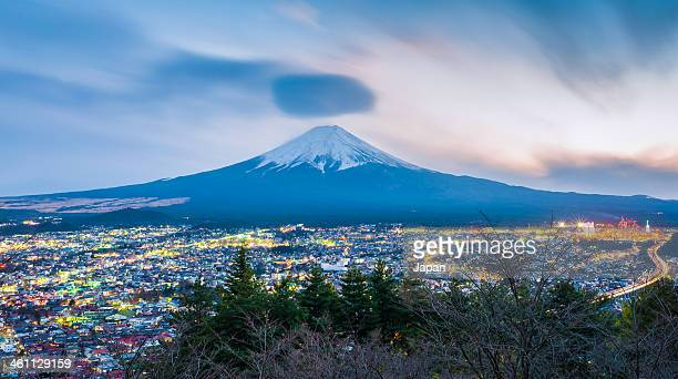 Mt Fuji at twilight