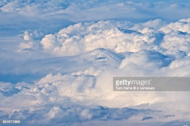 Mt. Fuji, daytime aerial view from airplane