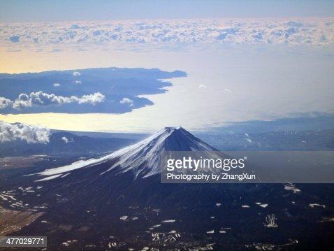 Mt, Fuji in winter, World heritage