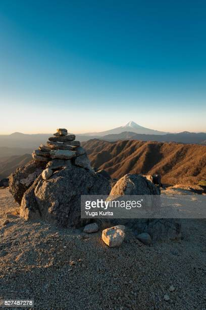Mt. Fuji over a Cairn