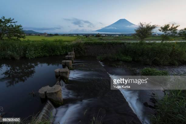 Mt. Fuji over a Stream