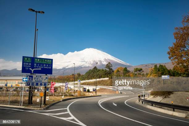 Mt. Fuji over the Paved Roads