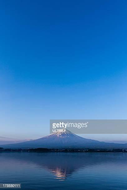 Mt. Fuji reflected in lake, Kawaguchiko,