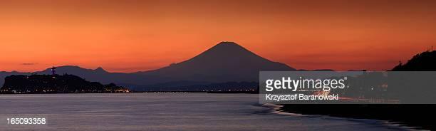 Mt. Fuji Sunset from Kamakura