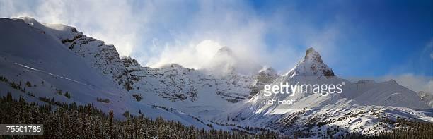 Mt. Hilda and Mt. Athbasca Jasper NP Clearing after storm. Alberta Canada