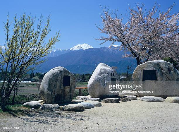 Mt. Jonen and monuments, Nagano Prefecture, Japan