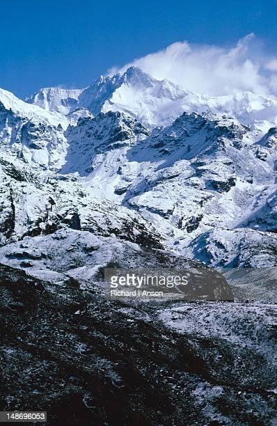 Mt Kanchenjunga (8598m) from Dablakang, a lookout 200m above  Dzongri