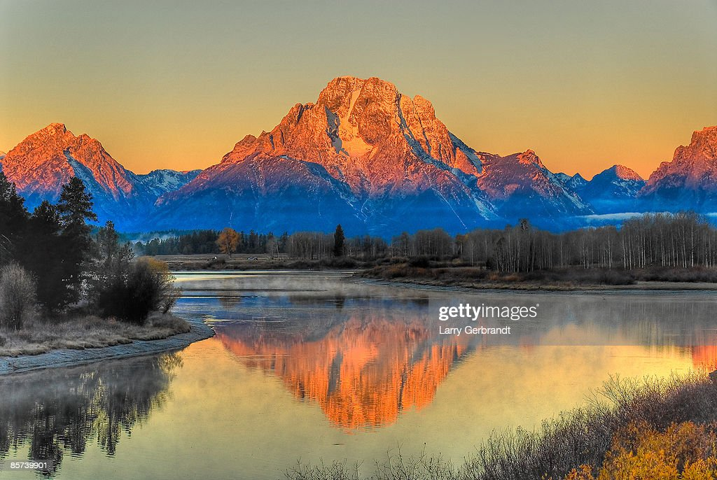 Mt Moran over Oxbow Bend on the Snake River