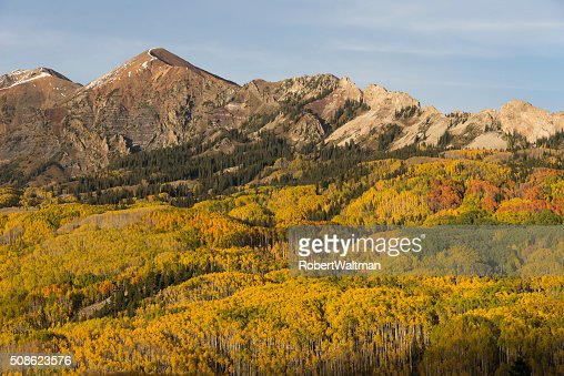 Mt. Owen and Ruby Peak in Autumn : Stock Photo