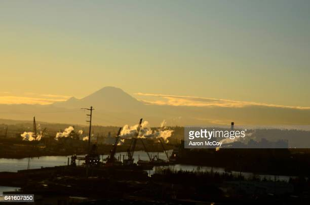 Mt. Rainier and Duwamish River