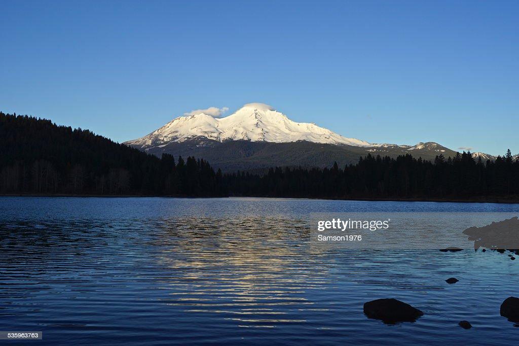 Mt. Shasta Sundown : Stock Photo
