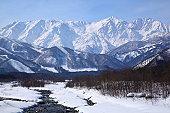 Mt. Shiroumadake, Hakuba village in winter, nagano japan