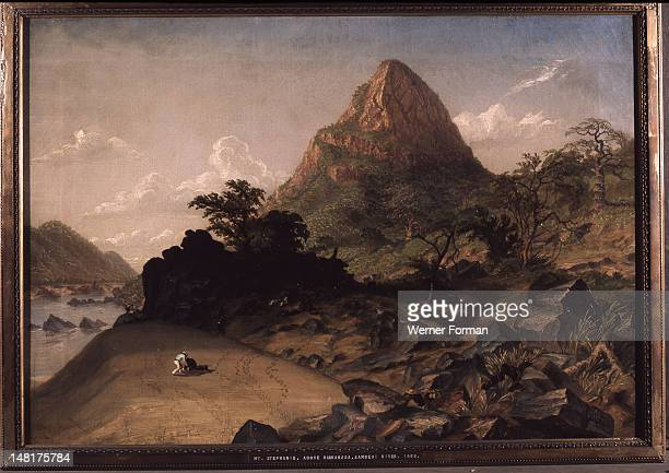 Mt Stephanie above Kabradasa Zambezi River' by Thomas Baines 27/11/1820 8/5/1875 an English artist and explorer of British colonial southern Africa...