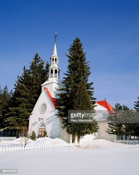 Mt Tremblant Chapel in winter, Quebec, Canada