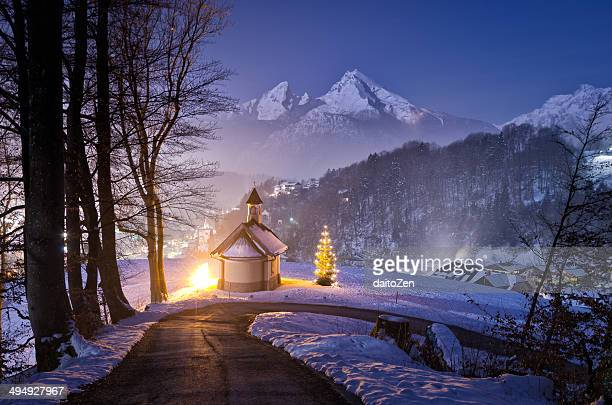 Mt. Watzmann with Lockstein Chapel, Germany