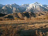 Mt Whitney fron Lone Pine on November 26 2015 in Lone Pine California