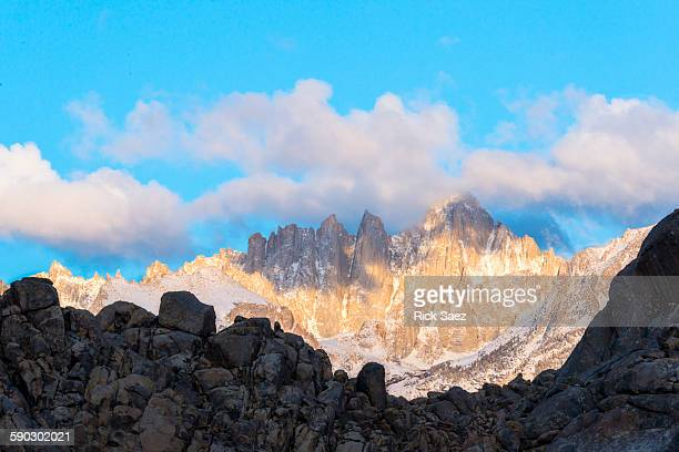 Mt. Whitney in clouds