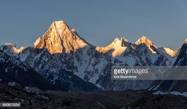 Mt.Gasherbrum 4 during sunset on the way to K2 base camp, Pakistan