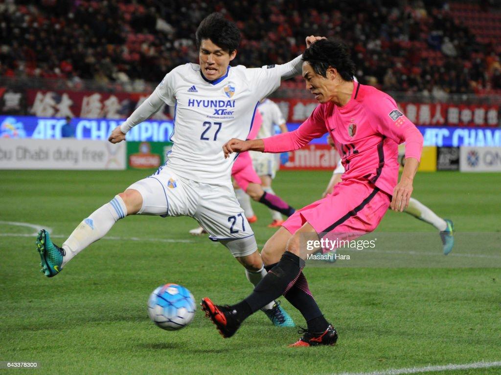 Mu Kanazaki of Kashima Antlers in action during the AFC Champions League Group E match between Kashima Antlers and Ulsan Hyndai at Kashima Soccer Stadium on February 21, 2017 in Kashima, Ibaraki, Japan.