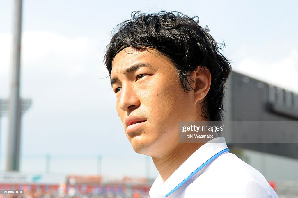 <a gi-track='captionPersonalityLinkClicked' href=/galleries/search?phrase=Mu+Kanazaki&family=editorial&specificpeople=6720023 ng-click='$event.stopPropagation()'>Mu Kanazaki</a> of Kashima Antlers is seen prior to the J.League match between Omiya Ardija and Kashima Antlers at Nack 5 Stadium Omiya on April 30, 2016 in Saitama, Japan.