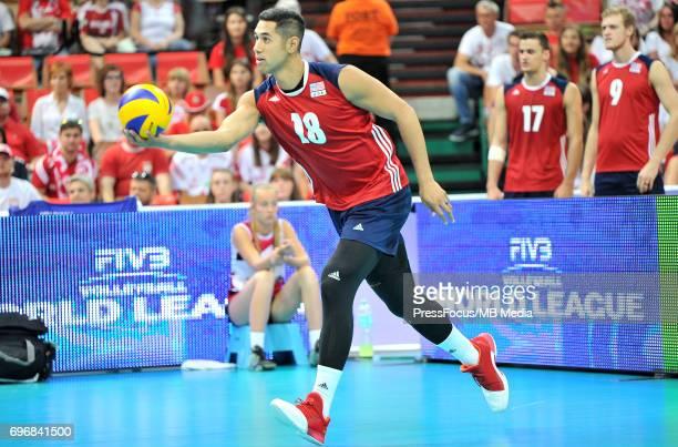 Muagututia Garrett during the FIVB World League 2017 match between Iran and USA at Arena Spodek on June 15 2017 in Katowice Poland