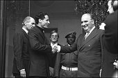 Muammar Al Gaddafi With Georges Pompidou At Elysee in 1973