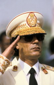 Muammar Al Qadhafi in Dakar Senegal on December 03rd 1985