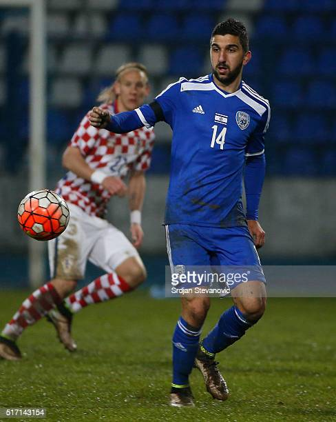 Muanes Dabbur of Israel in action during the International Friendly match between Croatia and Israel at stadium Gradski Vrt on March 23 2016 in...