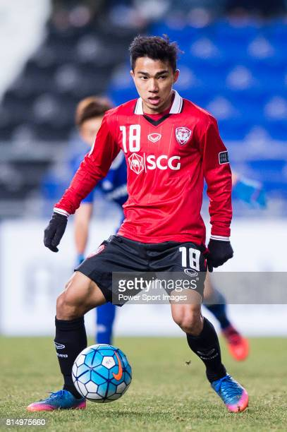 Muangthong Midfielder Chanathip Songkrasin in action during the AFC Champions League 2017 Group E match between Ulsan Hyundai FC vs Muangthong United...