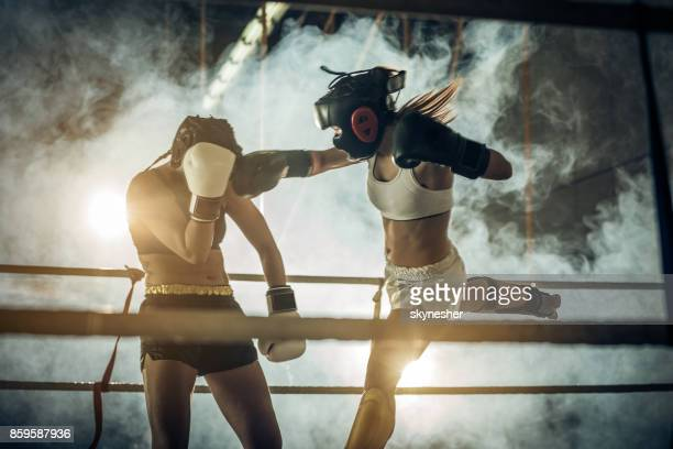 Muay Thai match in boxing ring!