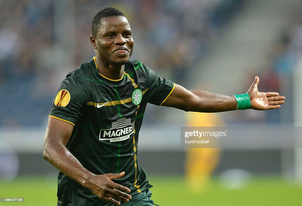 Mubarak Wakaso of Celtic in action during the UEFA Europa League Group D match between FC Salzburg and Celtic FC on September 18, 2014 in Salzburg,Austria.