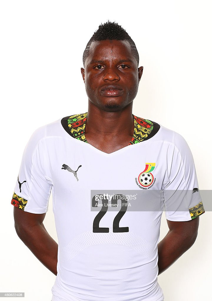 Mubarak Wakaso of Ghana poses during the official FIFA World Cup 2014 portrait session on June 11, 2014 in Maceio, Brazil.