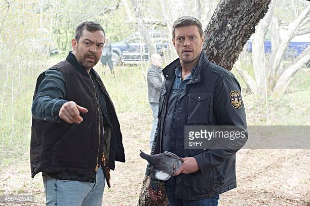 HAVEN 'Much Ado About Mara' Episode 504 Pictured Paul Braunstein as Mitchell Adam Copeland as Dwight Hendrickson