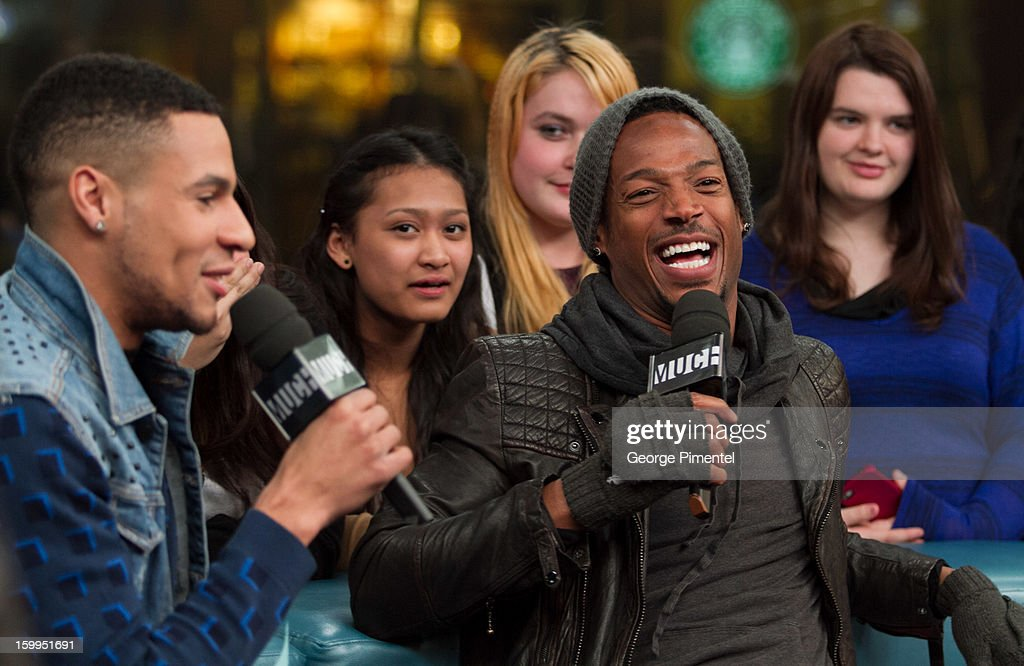 Much Music VJ Scott Willats and Marlon Wayans on New.Music.Live at MuchMusic Headquarters on January 23, 2013 in Toronto, Canada.