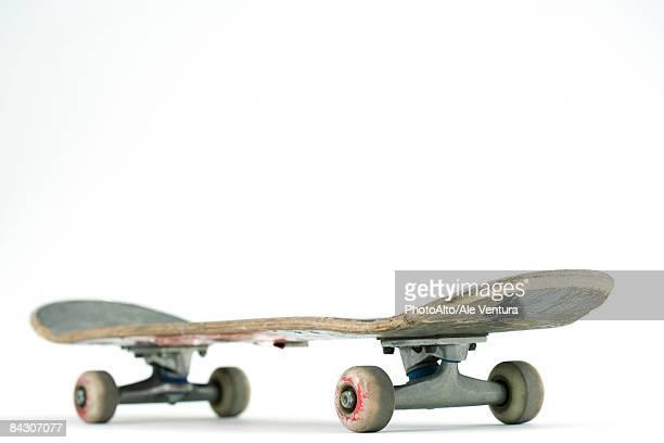 Much ridden skateboard, close-up