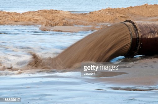 Mud Flow from a Pipeline