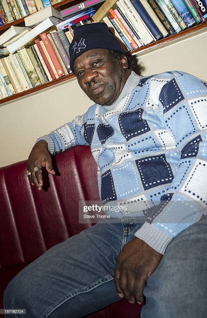 <a gi-track='captionPersonalityLinkClicked' href=/galleries/search?phrase=Mud+Morganfield&family=editorial&specificpeople=7726184 ng-click='$event.stopPropagation()'>Mud Morganfield</a>, the eldest son of legendary Blues musician Muddy Waters, poses during an exclusive portrait session at Flower Pot on November 29, 2012 in Derby, England.