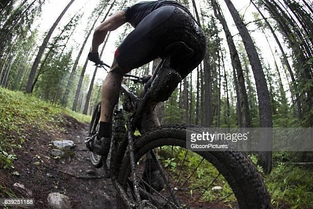 Muddy Mountain Bike Racer