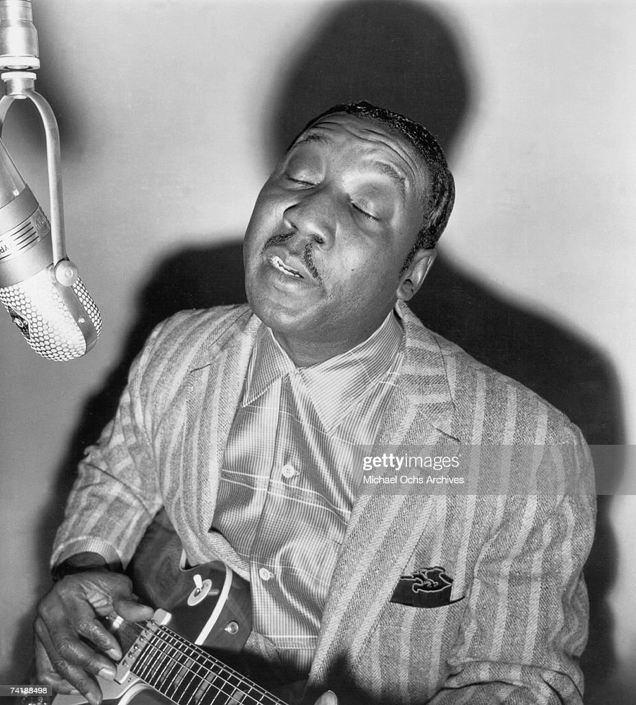 Muddy Waters records at Chess Records circa 1952 in Chicago Illinois