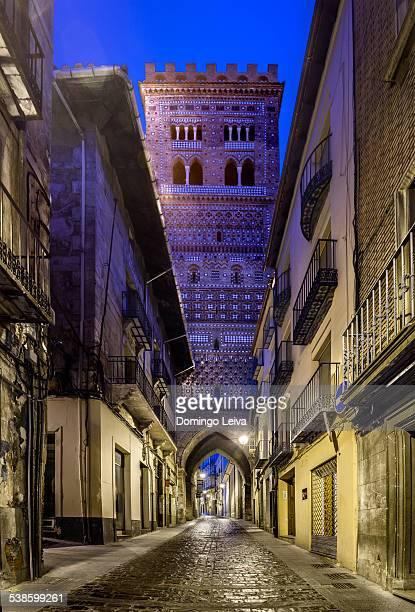 Mudejar Tower of El Salvador in Teruel, Spain