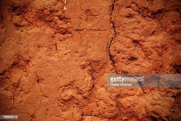 mudhouse wall from west africa, benin.