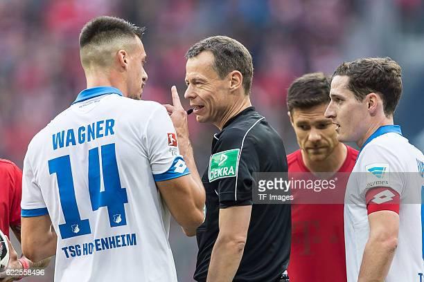 Muenchen Deutschland Bundesliga 10 Spieltag FC Bayern Muenchen TSG 1899 Hoffenheim Sandro Wagner Schiedsrichter Markus Schmidt